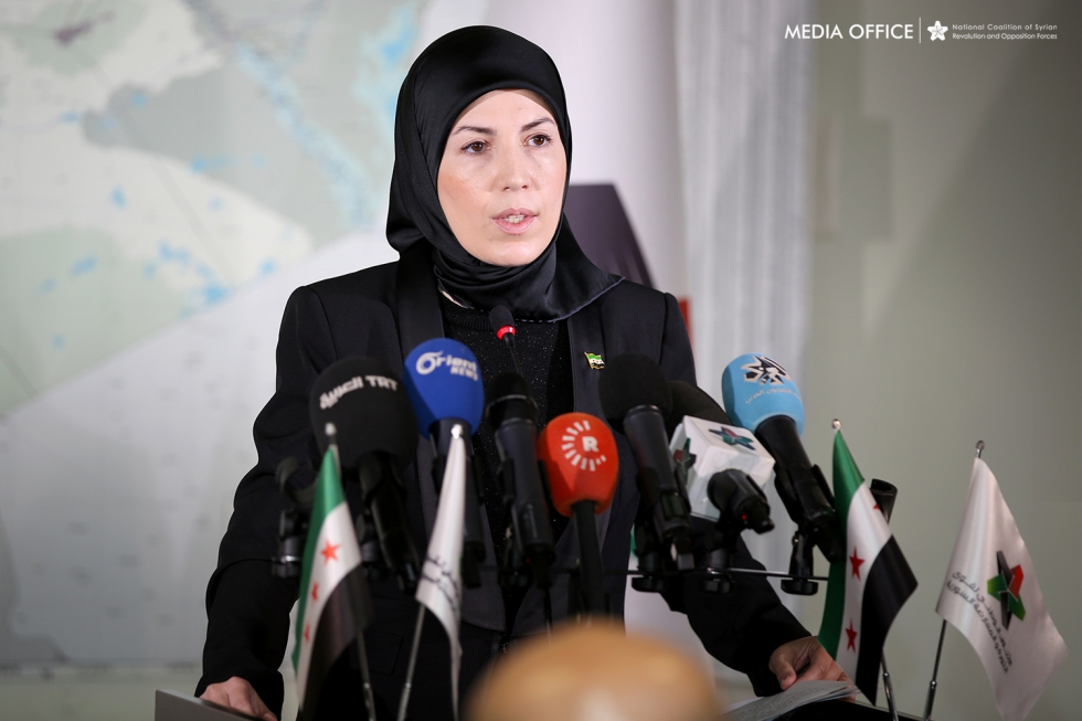 Vice-president of the Coalition Salwa Aksoy